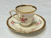 Victoria Bone China Cup And Saucer Pink Roses- Gently Used