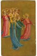 Group Of Angels Playing Trumpet By Painter Fra Angelico Florence, Italy Postcard