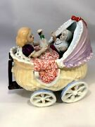 Rare Conta And Boehme Trinket Box --baby In A Carriage