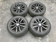 4 225/50r17 Continental Extreme Winter Contact Passenger Tires Mounted On Rims