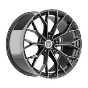 4 Hp3 20 Inch Staggered Black Tint Rims Fits Nissan 370z Nizmo 2009