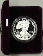 1993-p Proof American Silver Eagle 1 Coin Ase 1 Troy Oz .999 Fine As Issued