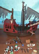 4806 Ghost Pirate Ship Cannon Shoots Soft Flame Stick Playmobil Complete Set Euc
