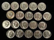 Roll Of 20 1964 50c Kennedy Silver Half Dollars -uncirculated - Free Ship Us