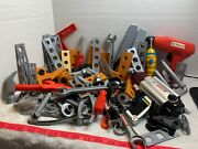 Craftsman Black And Decker Power Play Pretend Tools Lot Of 133 Pieces