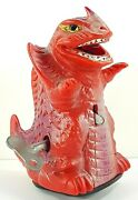 Godzilla Fire Monster Wind Up Sparking Toy 1960s Parts Or Repair