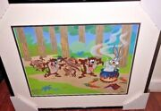 Warner Brothers Cel Insectes Bunny Tasmanie Diable Dirty Rare Nombre 1 Hc Cell