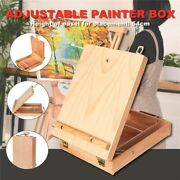 Desktop Easel Art Drawing Paint Supply Wood Table Retractable Box Board Supplies