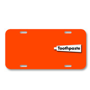 Toothpaste Tube Dental Hygiene On License Plate Car Front Add Names