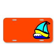 Sailing Boat Toy Boat Sailboat On License Plate Car Front Add Names