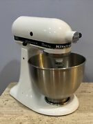 Kitchenaid Classic Plus Stand Mixer Ksm75wh W K45 Bowl And 3 Attachments