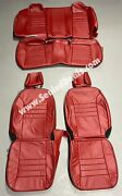 2015 - 2021 Dodge Charger Pursuit Custom Red Leather Seat Covers Police