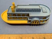 Very Rare Vintage 1950s Toy Paddle Wheel River Boat By Ideal