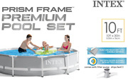 Intex 10and039 X 30 Above Ground Metal Frame Pool With 330 Gph Filter Pump