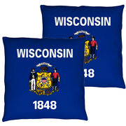 Wisconsin Flag Double Sided Throw Or Body Pillow