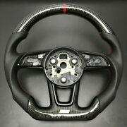 For Audi A3 S3 A4 S4 B9 A5 S5 17-19 Customized Carbon Fiber Steering Wheel Cover