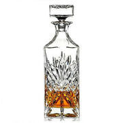 Crystal Wine Decanter 750ml Liquor Whiskey Drink Bar Ware Clear Glass Lead Free