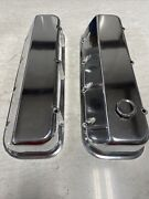 Emi 108-02p Valve Covers Bb Chevy Angled Smooth Pair Polished