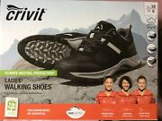 New Womens Walking Shoes Waterproof Black Leather Size 6 Climate Protection