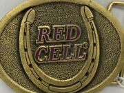 Red Cell Horse Products Brass Belt Buckle Beltbuckle