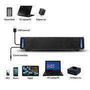 Computer Speakers Phission Usb Powered Sound Bar Dual Speakers With Led Light