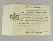 1838 Mass. Military Discharge Document Signed Militia Adj General Henry Dearborn