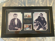 James Dean Collectors Stamp And Swatch Framed Memorabilia Limited Edition 139/250