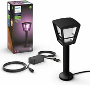 Philips Hue Econic White And Color Ambiance Outdoor Smart Pathway Light Base Kit