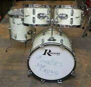 Rogers 4pc Holiday Dayton Era Drum Set White Marine Pearl Vintage 1960and039s