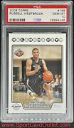 2008 Russell Westbrook Topps Rookie Psa 10 Most Triple/doubles In History