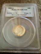 1983-s Roosevelt Dime Proof 70 Deep Cameo Graded By Pcgs