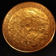 Chinese Rare Ming Dynasty Court Collection Unicorn Plate Xuande Year
