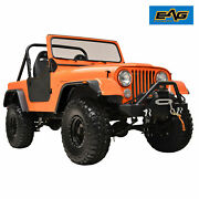Eag Fits 59-86 Jeep Wrangler Cj5/6/7 Flat Style Abs Wide Body Fender Flares