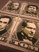 Shepard Fairey Obey Giant Godfather Screen Print Set Of 4 Signed Prints