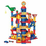 Wader Park Tower Toy Car Garage Play Set With 5 Cars 7 Floors Made In Europe....