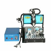V0 110v 800w 4 Axis 3040 Cnc Router Engraving Drilling Milling Machine Usb Port