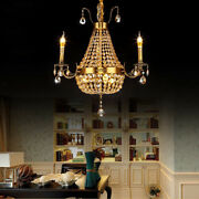 V0 Vintage European Style Crystal Chandeliers Candle Design Ceiling Lamps Decor