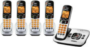 Uniden D1780-5 Cordless Phone W/ Orange Backlit Lcd Display And 4 Extra Handsets
