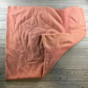 Vtg Trapper Point Rose / Pink Blanket All Wool Striped Made England 78x73