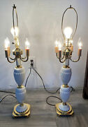 Vintage Metropolis Table Lamp With 5 Lights 32 To Top Of Harp White Gold