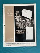 Sears Coldspot Time Bank Freezer Manual Model 1321 White And Repair Parts List