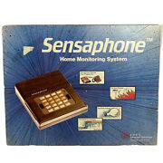 1983 Vintage Sensaphone 1000 Remote Monitoring System With Power Supply And Box