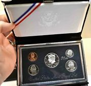 1998 S United States Premier 90  Silver 5 Coin Proof Set With Box And Coa