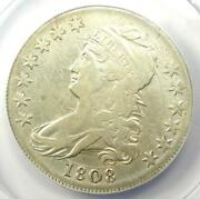 1808 Capped Bust Half Dollar 50c - Certified Anacs Vf30 Details - Rare Coin