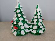 Original Snow Village Dept 56 Small Double Trees 51578 Retired And03985 Orig Box