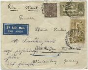 Burma, India Used In, 1933 Air Cover To Germany W/1a And Airmail 4a And 6a