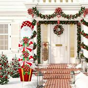 Christmas Yard Signs Stakes Decorations Xmas Plastic Cardboard Yard Decor Out...