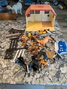 Plastic Childrenand039s Horse Toy Lot Stable Accessories Horses A Few Breyer