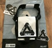 New With Tags Fw17 Palace Shot Bag Shoulder White Triferg