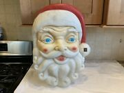 Large 24andrdquo X 18andrdquo Vintage Empire Light Up Musical Santa Face Blow Mold- No Lt.cord